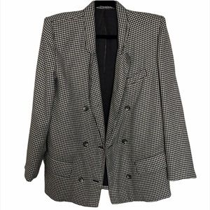 Vintage Black and White Houndstooth Blazer